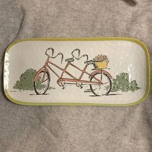 NWT Bicycle Built For Two Melamine Tray